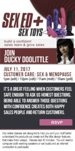 July 2017 Sex & Menopause Class