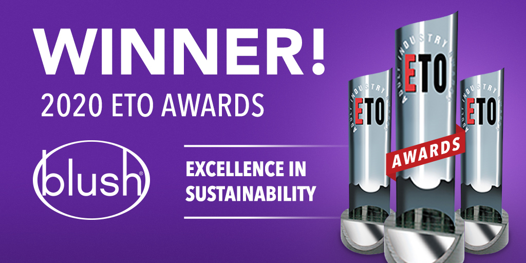 """Blush Wins ETO's """"Excellence in the Sustainability"""" Award"""