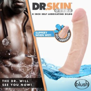 dr skin glide 8 inch self lubricating dildo